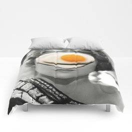 Thank God It's Fried Egg Comforters