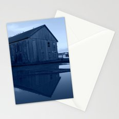 Warehouse Reflection in Blue Stationery Cards