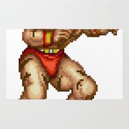 Zangief pixel art Rug