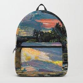 Tom Thomson - Sunset, Canoe Lake - Digital Remastered Edition Backpack