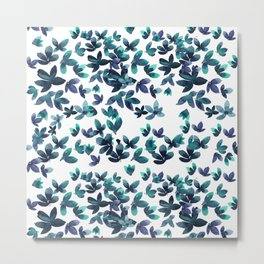 Born to Butterfly - Teal and Navy Palette Metal Print