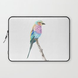 Lilac Breasted Roller - Colored Pencil Laptop Sleeve