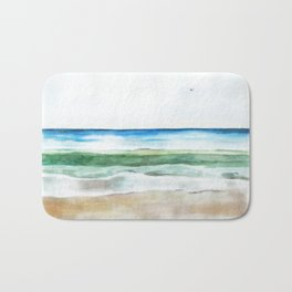 Ocean Watercolor Bath Mat