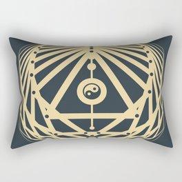 Radiant Abundance (grey-gold) Rectangular Pillow