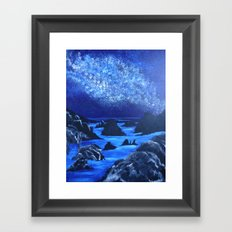 Seas and stars Framed Art Print