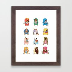 Reading fictional characters Framed Art Print