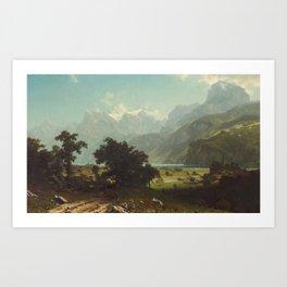 Lake Lucerne by Albert Bierstadt Art Print