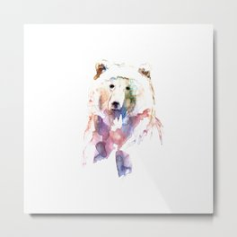 Bear / Abstract animal portrait. Metal Print