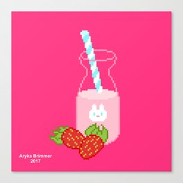 Strawberry Milk Canvas Print