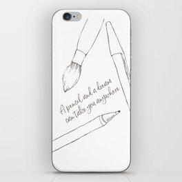 A pencil and a dream... white! iPhone Skin