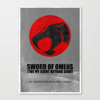 thundercats Canvas Prints featuring Thundercats (Super Minimalist series) by Itomi Bhaa