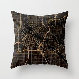 Minneapolis map, Minnesota Throw Pillow