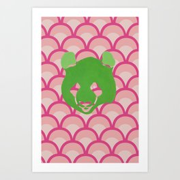 PANDA WAVES Art Print