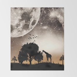 Nature silhouettes Throw Blanket