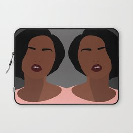 Mia - minimal, abstract portrait of an African American woman Laptop Sleeve