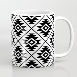 Aztec Symbol Pattern Black on White Coffee Mug