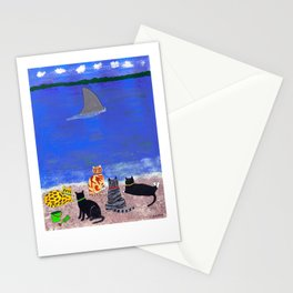Cats on the Beach Stationery Cards