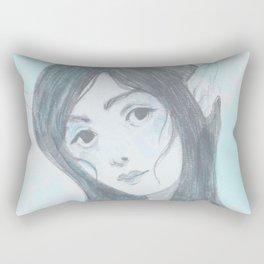 Mermaid (Blue) Rectangular Pillow