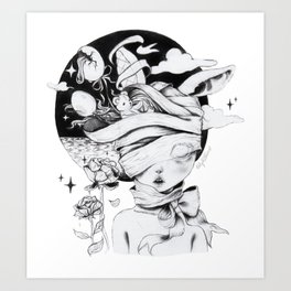 Coma Dreams (B&W) Art Print