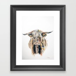 HIGHLAND BULL // STAY WILD Framed Art Print