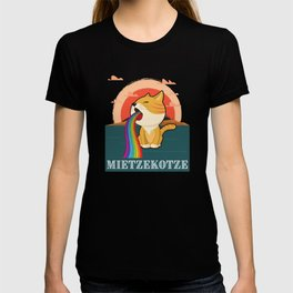 Mietze Katze und Mietze katz regenbogen T-shirt