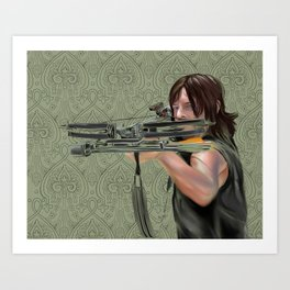 Daryl Dixon from The Walking Dead Art Print