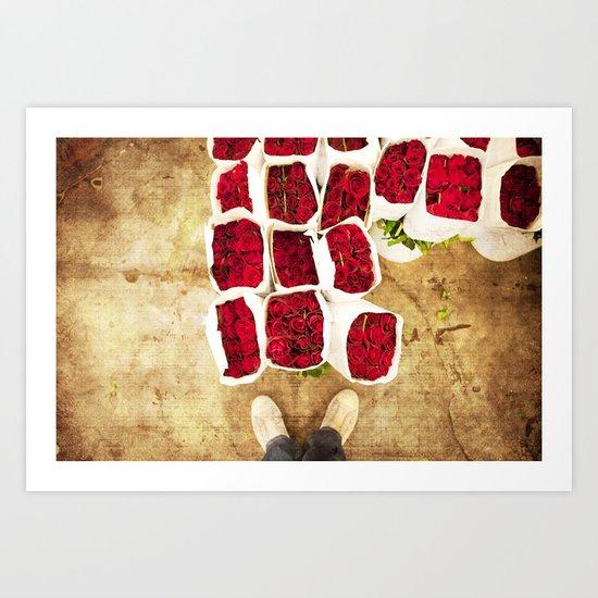 Love in Converse Art Print