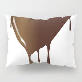 Melting Chocolate Heart Pillow Sham