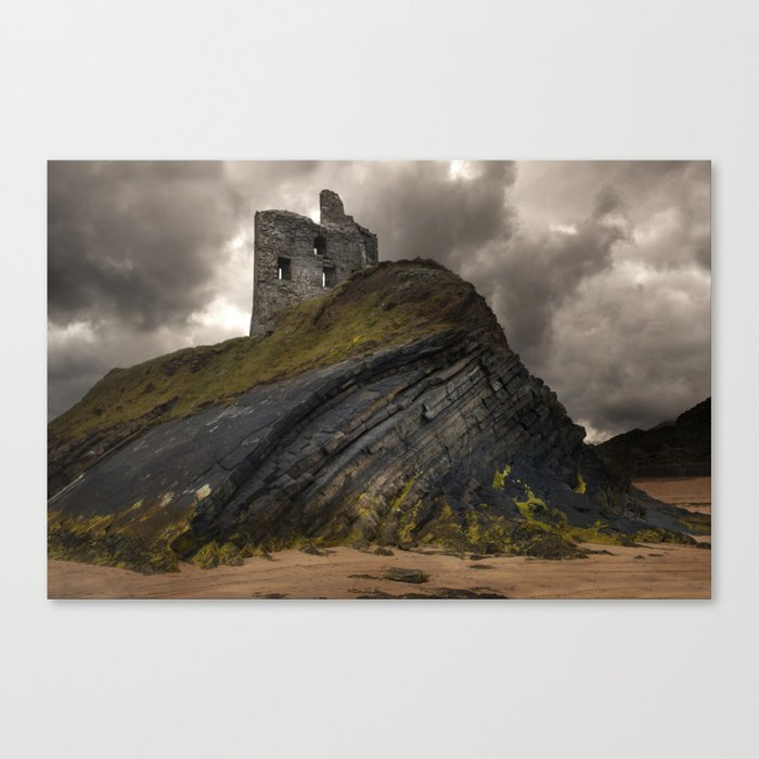 Forgotten castle in western Ireland Canvas Print