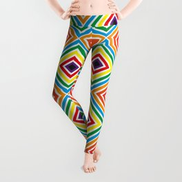 Colorful geometric pattern octagon Leggings