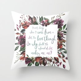 The Hate U Give Angie Thomas Quote Throw Pillow