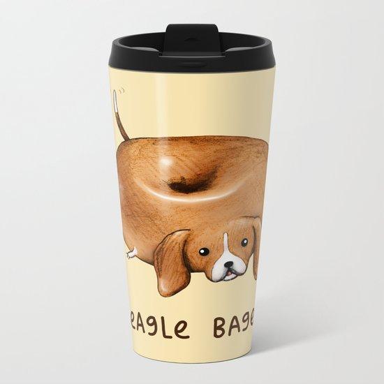 Beagle Bagel Metal Travel Mug