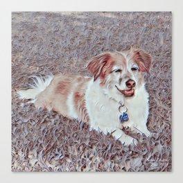 Shadow the Dog Art Canvas Print