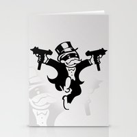 gangster Stationery Cards featuring Monopoly Gangster by Grime Lab
