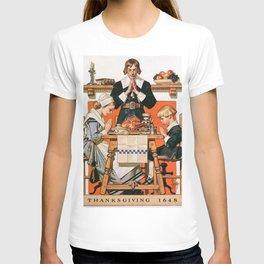 12,000pixel-500dpi - Joseph Christian Leyendecker - Thanksgiving Day 1648 - Digital Remastered T-shirt