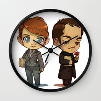 crowley Wall Clocks featuring Naomi & Crowley by Ravenno