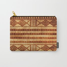 Embossed African Pattern Carry-All Pouch