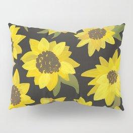 Sunflowers Acrylic on Charcoal Pillow Sham