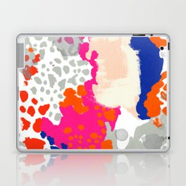 Mica - bright happy abstract painting trendy color palette modern home decor nursery art Laptop & iPad Skin
