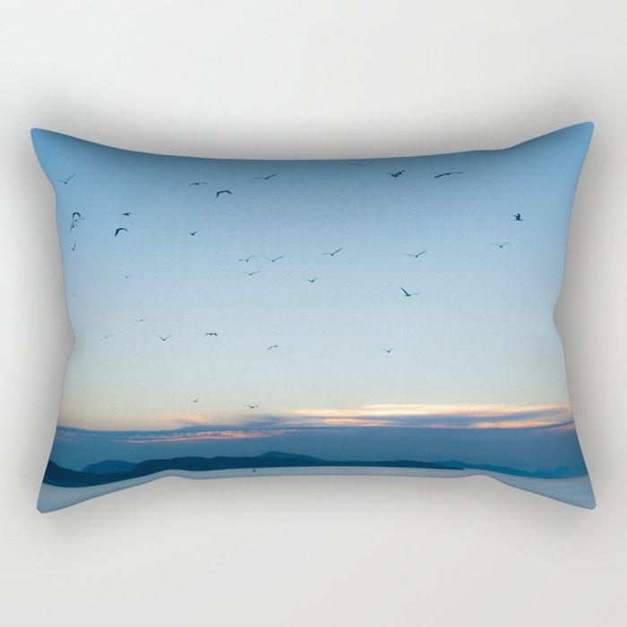 Birds Croatie Lokrum Rectangular Pillow
