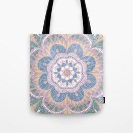 Faded Desert Flower Mandala Tote Bag
