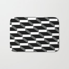 3d wall of cubes and shadows Bath Mat