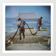 CARRYING the WEIGHT of the WORLD Art Print