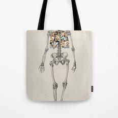 Skeletons Smoking Tote Bag