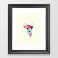 Watercolor Fawn Framed Art Print