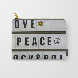 Love, Peace and Rock and Roll Carry-All Pouch