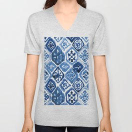 Arabesque tile art Unisex V-Neck