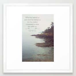 What lies before us Framed Art Print