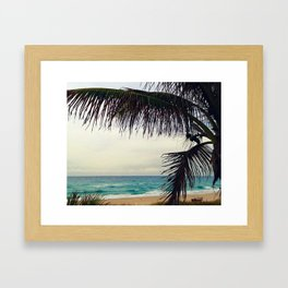 Sea and Palm  Framed Art Print