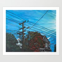 brompton Art Prints featuring Brompton Ave. by Rebecca Sandford-Smith